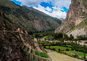 Ollantaytambo Ruins, Sacred Valley, Cusco Region, Peru, South Americaの写真素材 [FYI03786601]