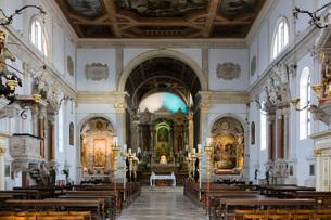 The Church of Saint George, Piran, Slovenia, Europeの写真素材 [FYI03786975]