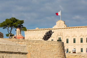 Auberge Castille Museum in old town Valletta, UNESCO World Heritage Site and European Capital of Culの写真素材 [FYI03787107]