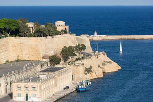 The Grand Harbour in Valletta, European Capital of Culture 2018, Valletta, Malta, Mediterranean, Eurの写真素材 [FYI03787109]