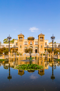 Museum of Popular Arts and Traditions in Maria Luisa Park, Seville, Andalusia, Spain, Europeの写真素材 [FYI03787403]