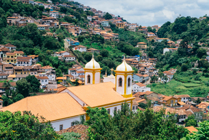Ouro Preto, a former colonial mining town, UNESCO World Heritage Site, Minas Gerais, Brazil, South Aの写真素材 [FYI03787436]