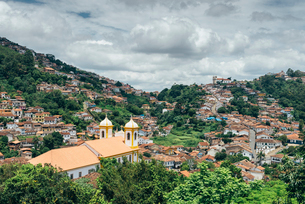 Ouro Preto, a former colonial mining town, UNESCO World Heritage Site, Minas Gerais, Brazil, South Aの写真素材 [FYI03787440]