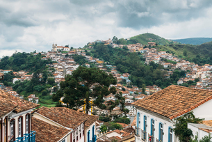 Ouro Preto, a former colonial mining town, UNESCO World Heritage Site, Minas Gerais, Brazil, South Aの写真素材 [FYI03787441]