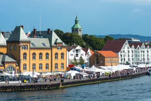 Stavanger city waterfront, Rogaland, Norway, Scandinavia, Europeの写真素材 [FYI03787449]