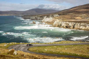 Atlantic Drive, southern Achill Island, County Mayo, Connacht, Republic of Ireland, Europeの写真素材 [FYI03787544]