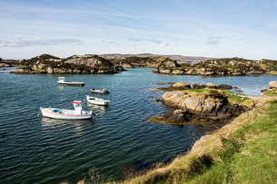 Granite coast near Dungloe, County Donegal, Ulster, Republic of Ireland, Europeの写真素材 [FYI03787548]