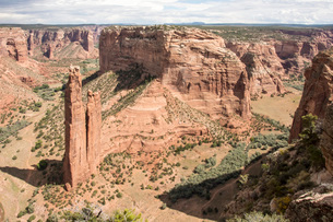 Spider Rock, Canyon de Chelly National Monument, Arizona, United States of America, North Americaの写真素材 [FYI03787557]