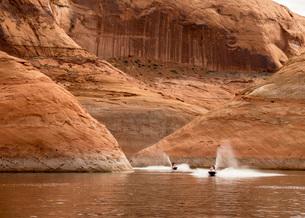 Moki Canyon, Lake Powell, Utah, United States of America, North Americaの写真素材 [FYI03787558]