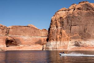 Escalante River Arm, Lake Powell, Utah, United States of America, North Americaの写真素材 [FYI03787559]