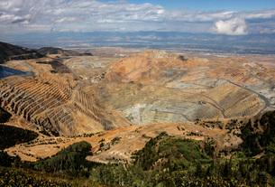 Bingham Canyon Copper Mine, Salt Lake City, Utah, United States of America, North Americaの写真素材 [FYI03787569]