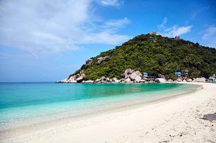 Koh Nang Yuan island in the Gulf of Thailand, Thailand, Southeast Asia, Asiaの写真素材 [FYI03787734]