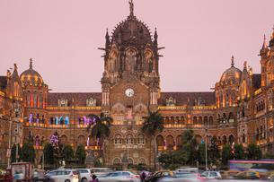 Chhatrapati Shivaji Terminus, UNESCO World Heritage Site, Mumbai, Maharashtra, India, Asiaの写真素材 [FYI03787907]