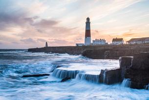 Lighthouse at Portland Bill, Isle of Portland, UNESCO World Heritage Site, Dorset, England, United Kの写真素材 [FYI03788003]