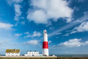 Lighthouse at Portland Bill, Isle of Portland, Dorset, England, United Kingdom, Europeの写真素材 [FYI03788017]