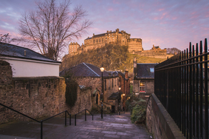 Edinburgh Castle, Scotland, United Kingdom, Europeの写真素材 [FYI03788067]