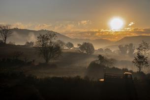 Mist in Kalaw, Shan State, Myanmar (Burma), Asiaの写真素材 [FYI03788075]