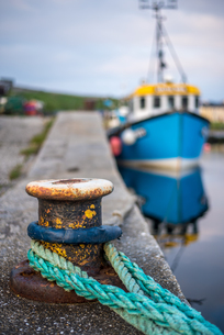 Traditional fishing boat, Northern Ireland, United Kingdom, Europeの写真素材 [FYI03788109]
