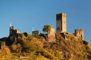 Metternich Castle Ruins, Beilstein, Rhineland-Palatinate, Germany, Europeの写真素材 [FYI03788359]