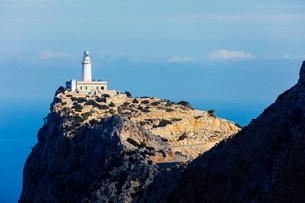 Cap Formentor lighthouse, Majorca, Balearic Islands, Spain, Mediterranean, Europeの写真素材 [FYI03788397]
