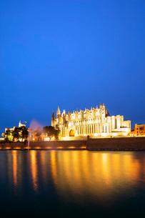 La Seu Cathedral, Palma de Mallorca, Majorca, Balearic Islands, Spain, Mediterranean, Europeの写真素材 [FYI03788400]