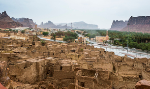 The old ghost town of Al Ula, Saudi Arabia, Middle Eastの写真素材 [FYI03788412]