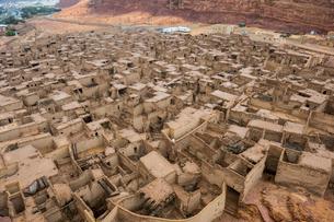 The old ghost town of Al Ula, Saudi Arabia, Middle Eastの写真素材 [FYI03788414]