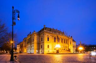 Rudolfinum concert hall and art gallery, Prague, Czech Republic, Europeの写真素材 [FYI03788429]