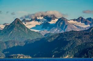 Scenery, Homer, Harding Icefield, Kachemak Bay, Kenai Fjords National Park, Alaska, United States ofの写真素材 [FYI03788544]