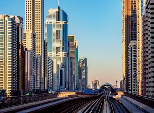 Dubai Metro, Dubai, United Arab Emirates, Middle Eastの写真素材 [FYI03788590]