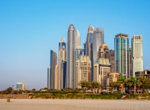 Dubai Marina JBR Beach, Dubai, United Arab Emirates, Middle Eastの写真素材 [FYI03788600]
