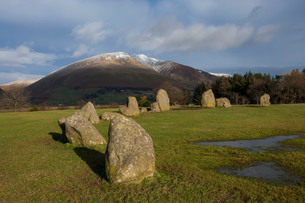 Castlerigg Stone Circle, Keswick, Lake District National Park, UNESCO World Heritage Site, Cumbria,の写真素材 [FYI03788677]