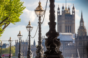 Houses of Parliament from South Bank, London, England, United Kingdom, Europeの写真素材 [FYI03788917]