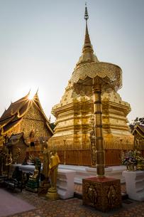 Wat Phrathat Doi Suthep, Chiang Mai, Thailand, Southeast Asia, Asiaの写真素材 [FYI03789001]