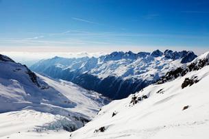 Argentiere Glacier and Aiguilles Rouges, Chamonix, Haute Savoie, Rhone Alpes, French Alps, France, Eの写真素材 [FYI03789643]