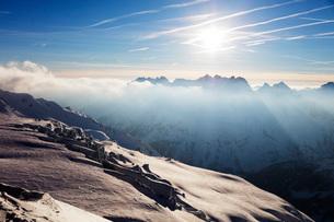Glacier de Tour and Aiguilles Rouges, Chamonix, Haute Savoie, Rhone Alpes, French Alps, France, Euroの写真素材 [FYI03789644]