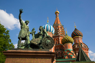 St. Basil's Cathedral, Red Square, UNESCO World Heritage Site, Moscow, Russia, Europeの写真素材 [FYI03789727]