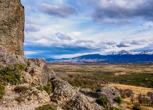 Devil Chair Rock Formation, Cueva del Milodon Natural Monument, Puerto Natales, Ultima Esperanza Proの写真素材 [FYI03789774]