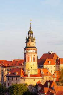 Cesky Krumlov Castle dating back to 1240, Cesky Krumlov, UNESCO World Heritage Site, South Bohemia,の写真素材 [FYI03789958]