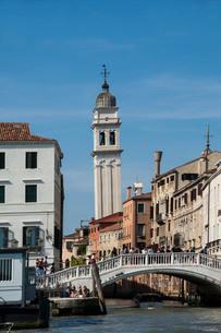 Chiesa San Giorgio dei Greci Campanile, UNESCO World Heritage Site, Venice, Veneto, Italy, Europeの写真素材 [FYI03789990]