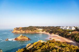 Portelet Bay, Jersey, Channel Islands, United Kingdom, Europeの写真素材 [FYI03790047]
