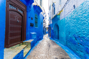 Blue City of Chefchaouen, Morocco, North Africa, Africaの写真素材 [FYI03790156]
