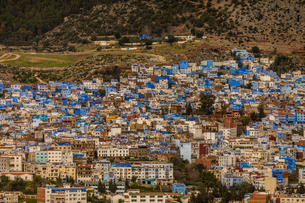 Blue City of Chefchaouen, Morocco, North Africa, Africaの写真素材 [FYI03790162]