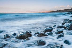 Harlech Beach, Snowdonia National Park, Gwynedd, North Wales, Wales, United Kingdom, Europeの写真素材 [FYI03790390]
