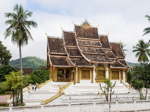 Haw Pha Bang temple, part of the National Museum complex, Luang Prabang, Laos, Indochina, Southeastの写真素材 [FYI03790495]