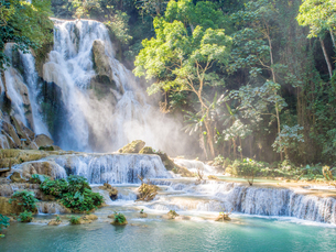 Keang Si waterfall, Luang Prabang, Laos, Indochina, Southeast Asia, Asiaの写真素材 [FYI03790496]