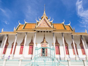 Silver Pagoda, Royal Palace, Phnom Penh, Cambodia, Indochina, Southeast Asia, Asiaの写真素材 [FYI03790631]