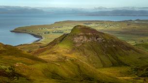 Isle of Skye, taken from the Quiraing, Isle of Skye, Inner Hebrides, Scotland, United Kingdom, Europの写真素材 [FYI03790798]