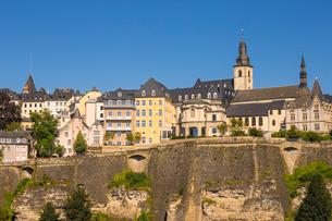 The Corniche (Chemin de la Corniche), Luxembourg City, Luxembourg, Europeの写真素材 [FYI03790918]