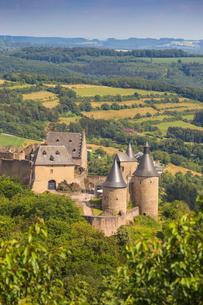 Bourscheid Castle, Bourscheid, Luxembourg, Europeの写真素材 [FYI03790944]